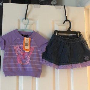 Calvin Klein Jeans size 2 shirt and Skort set